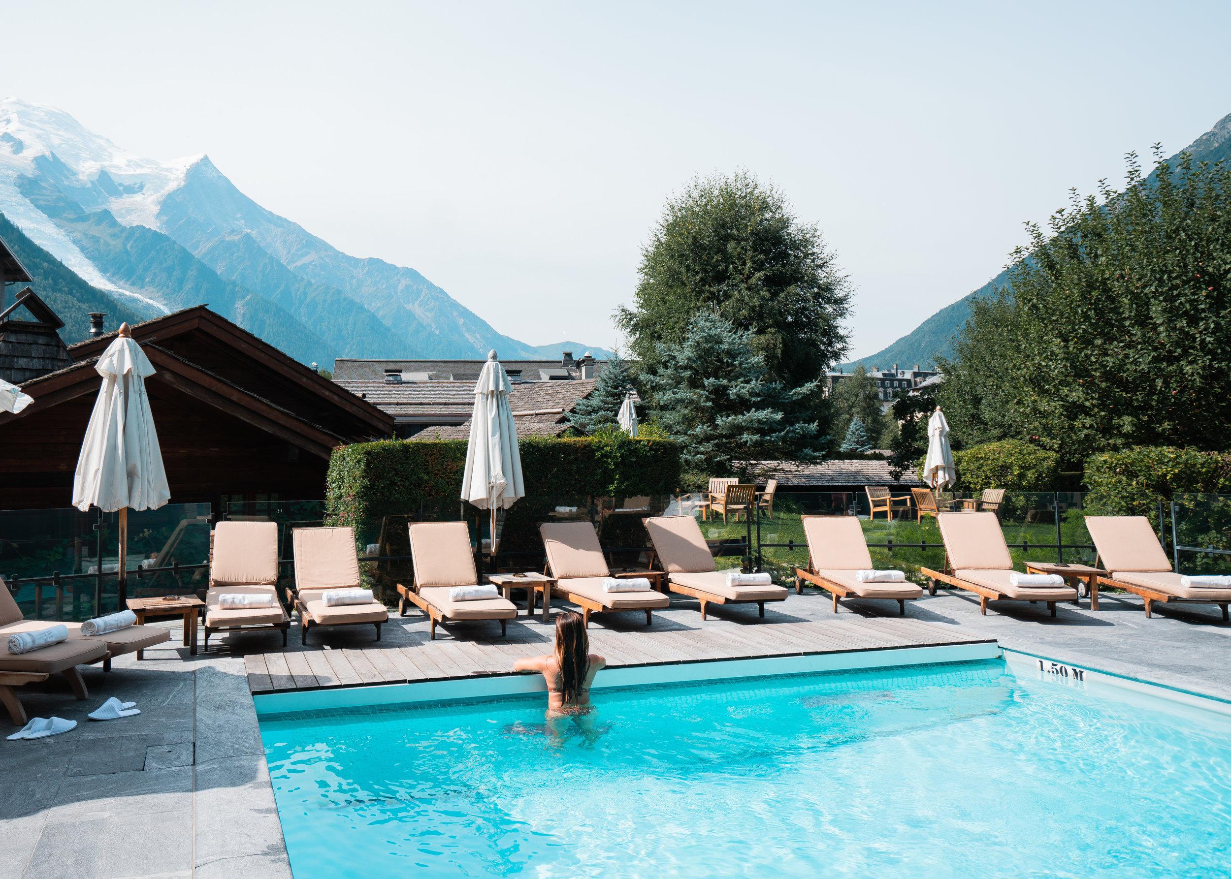 Hameau Albert 1er's outdoor pool
