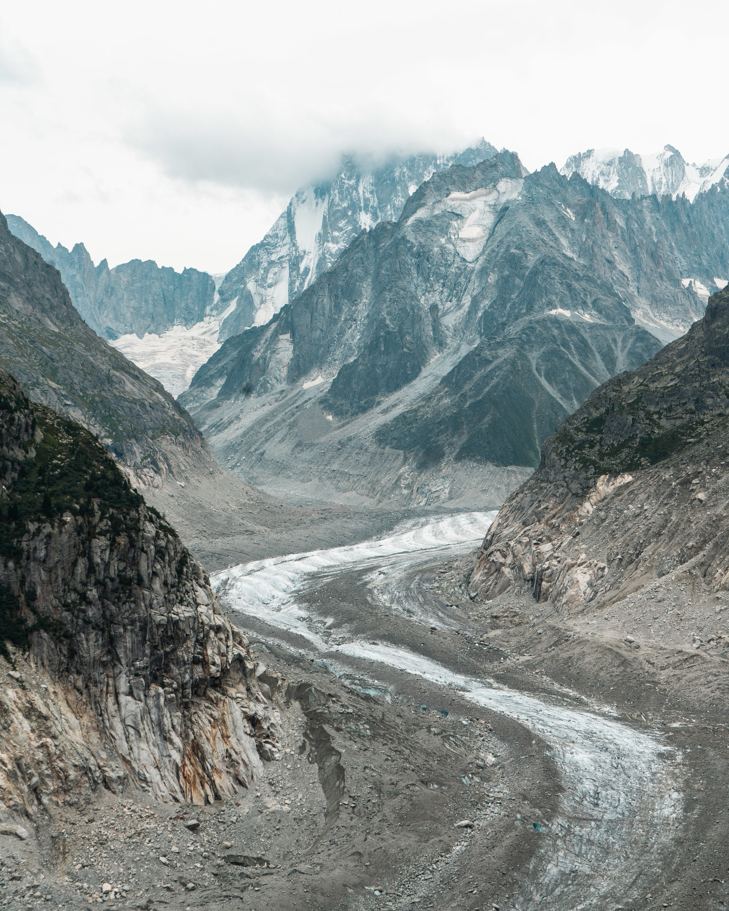 The Mer de Glace is the largest glacier in France, 7km long and 200m deep
