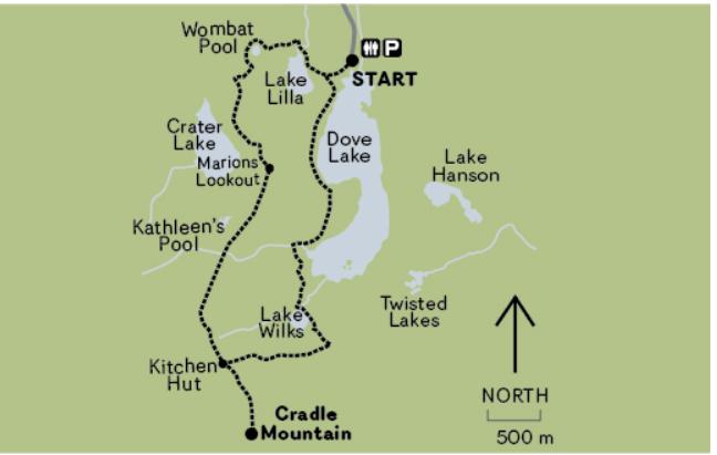 Crater Lake Map