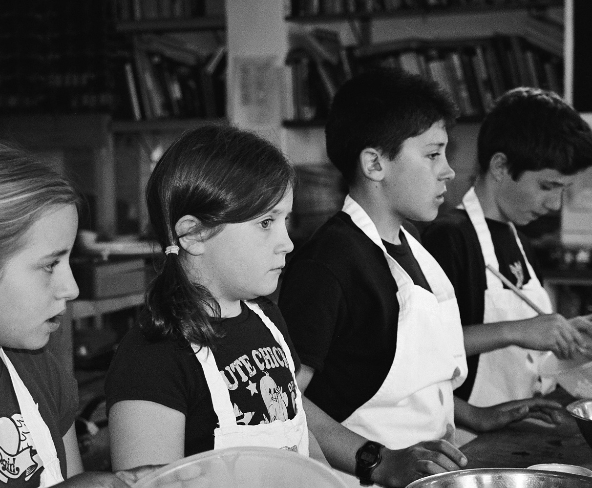 Barny's first students at QV Cookery School