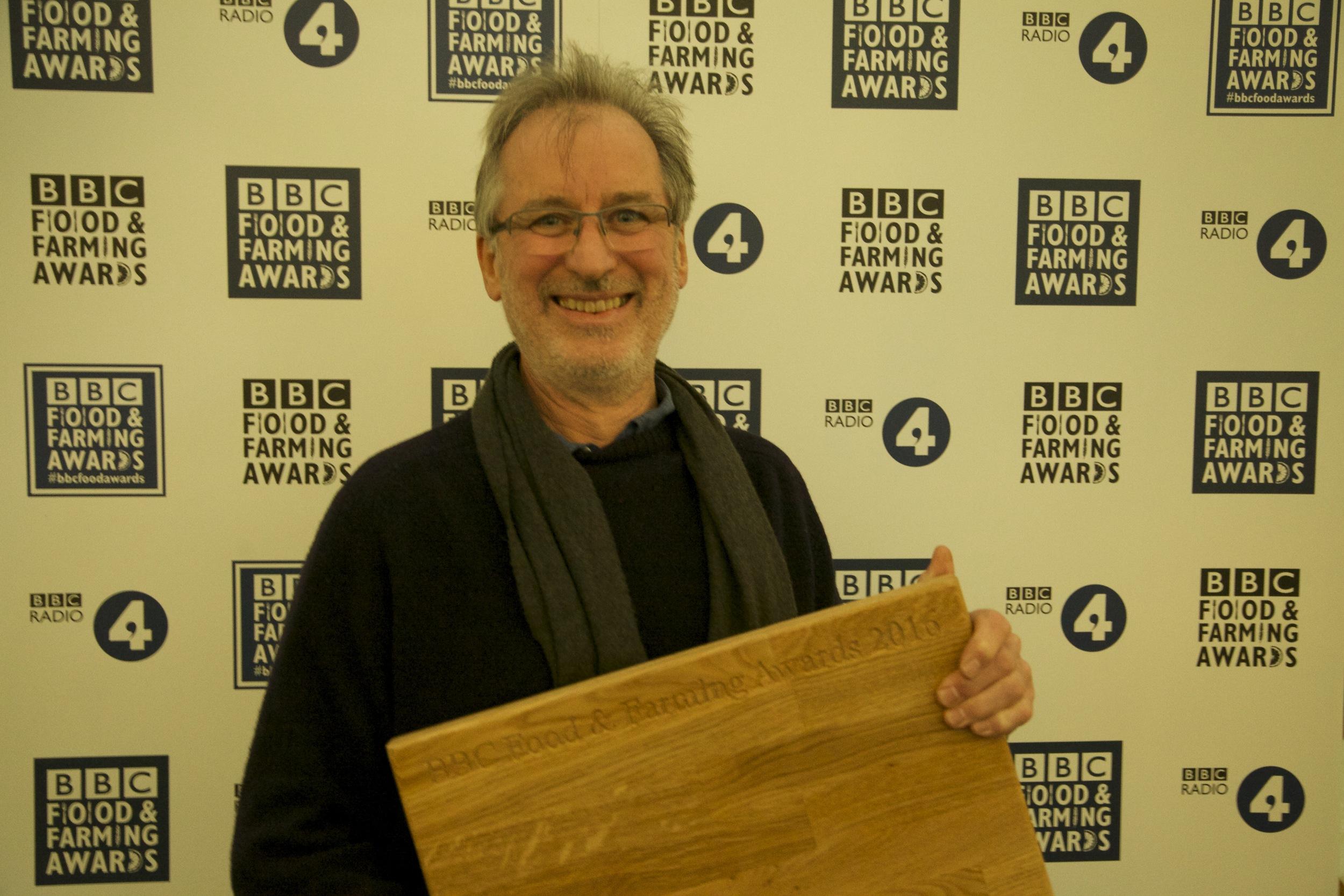 Barny and his award! credit James Sopp