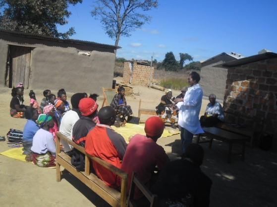 Mr. Mwenda teaching community groups on Agriclture