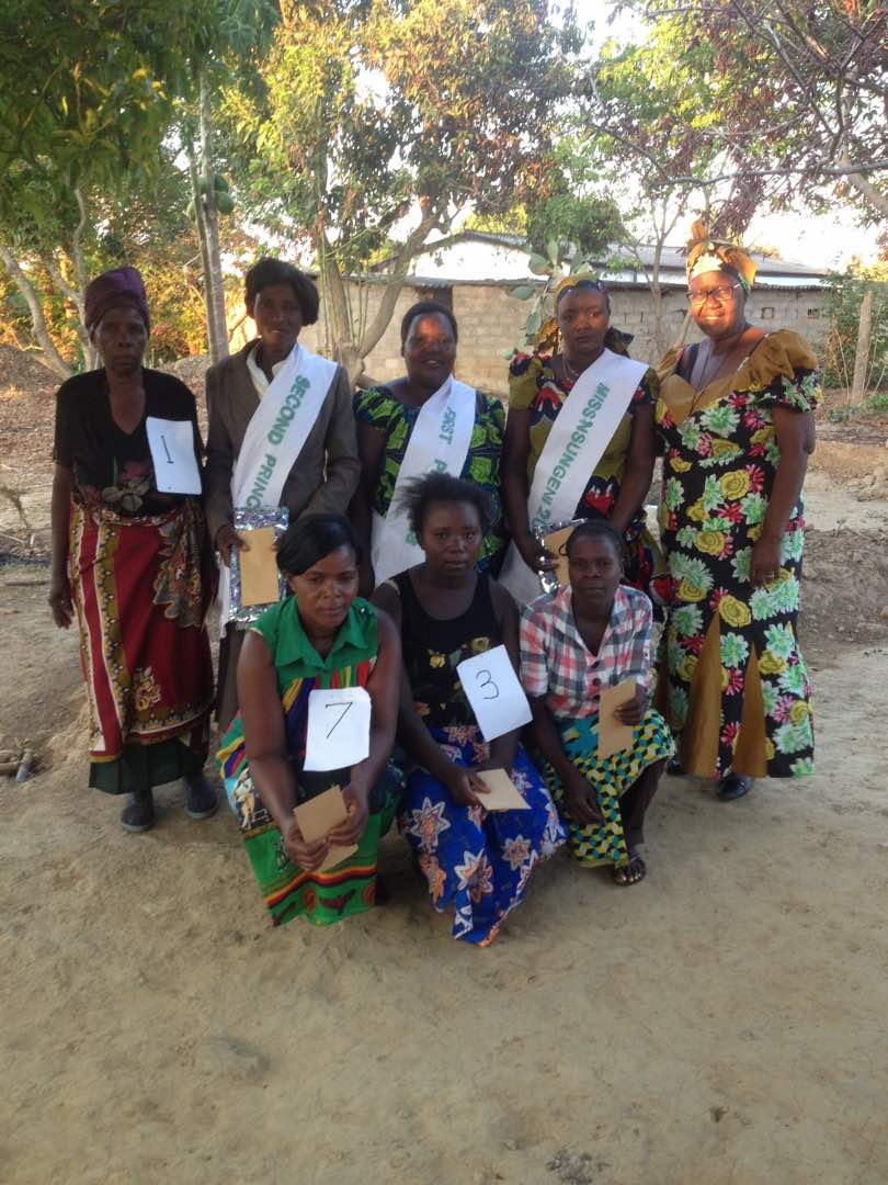 Mary Kombe (far right) with Winners of the 2017 Miss Nsugeni CBO Contest