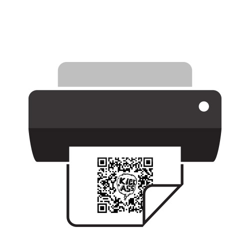 Print the QR-Code out.