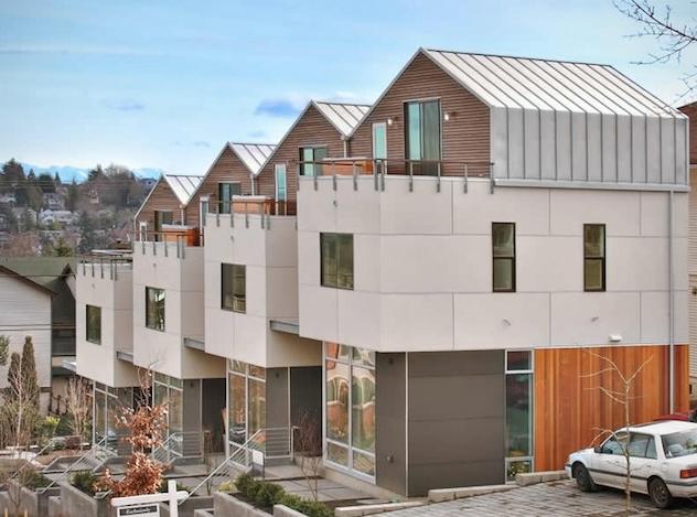 Modern upscale Seattle row houses