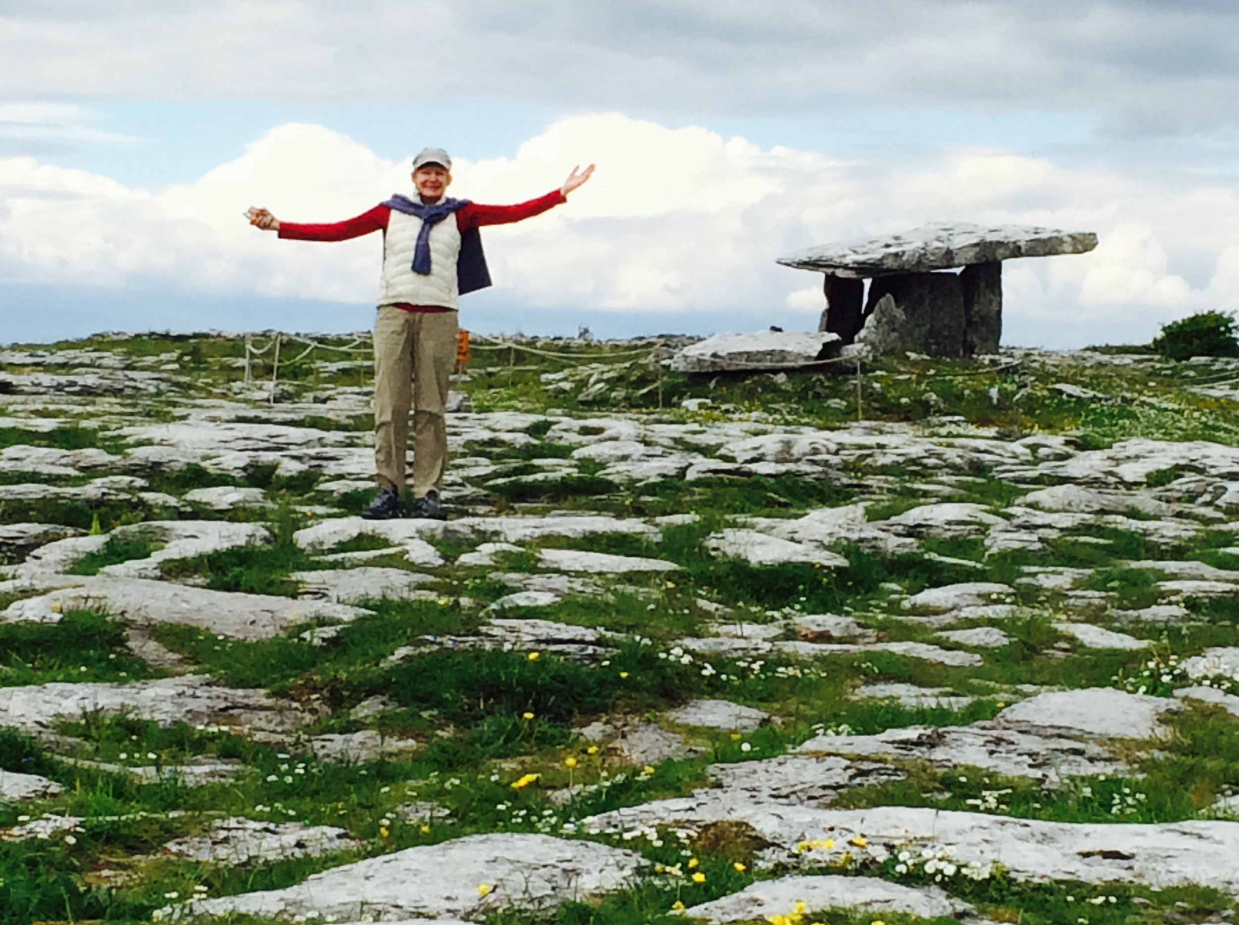 Poulnabrone dolmen  in the Burren, a 5000 year old Neolithic tomb. Contrary to popular opinion, I did not just emerge from the tomb.