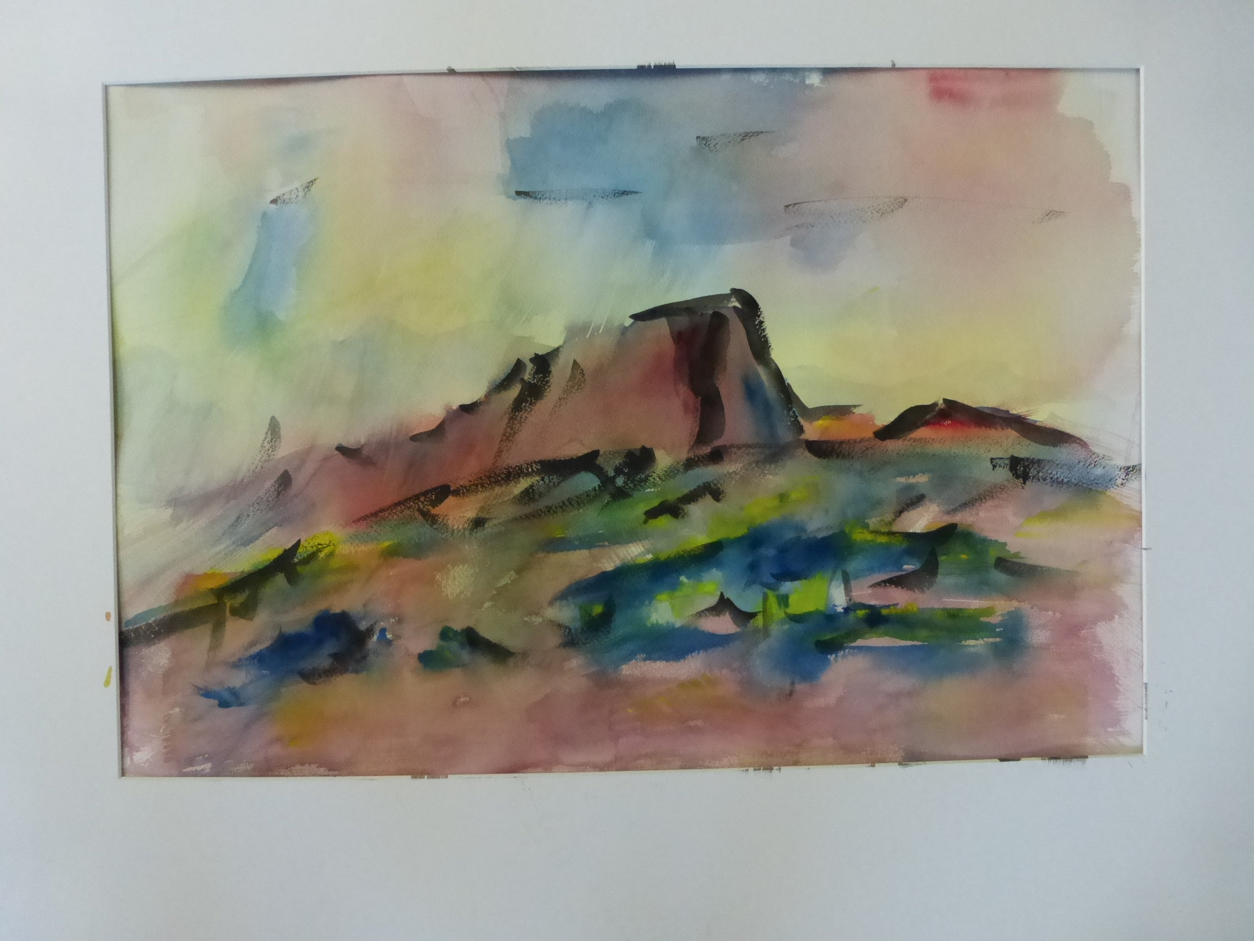 An abstract that reminds me of Hermit's Peak, my favorite mountain in New Mexico