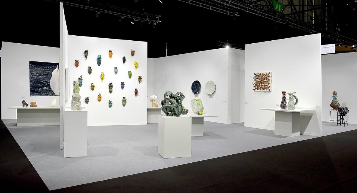 Group Exhibition at artgenéve 2018 featuring work by Heidi Bjørgan, Grant Aston, Aneta Regel, Marit Tingleff, Michael Brennand-Wood and Fredrik Nielsen.