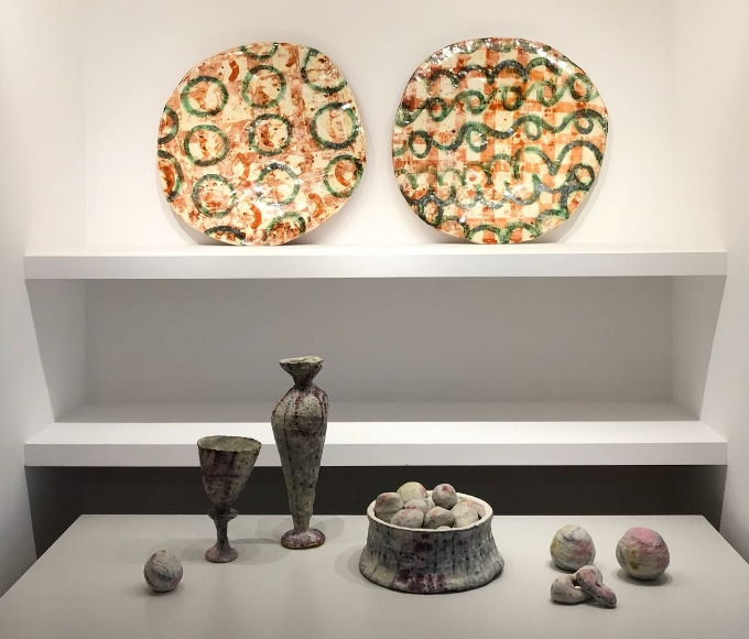 Plates by Marit Tingleff and installation by Susan Nemeth