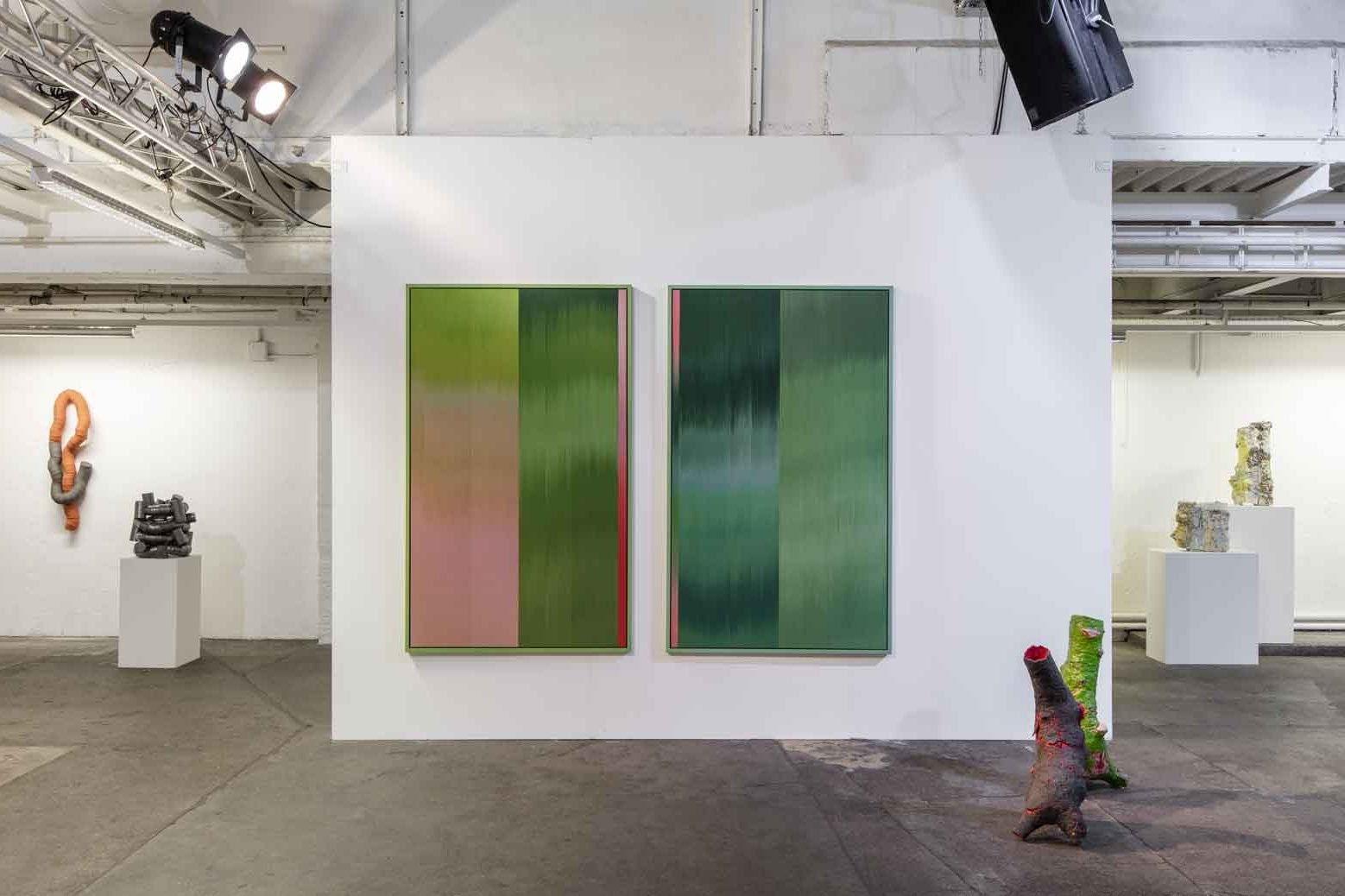 left to right: Work by Martin Bodilsen Kaldahl, Ptolemy Mann and Aneta Regel