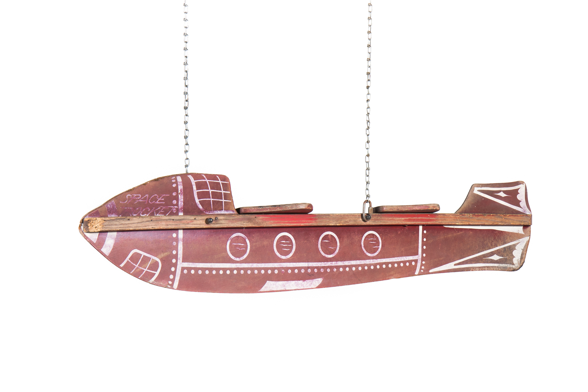 """Space Rocket"" Swing – Beaverboard (from Virginia circa 1950) - Length 6'0"""