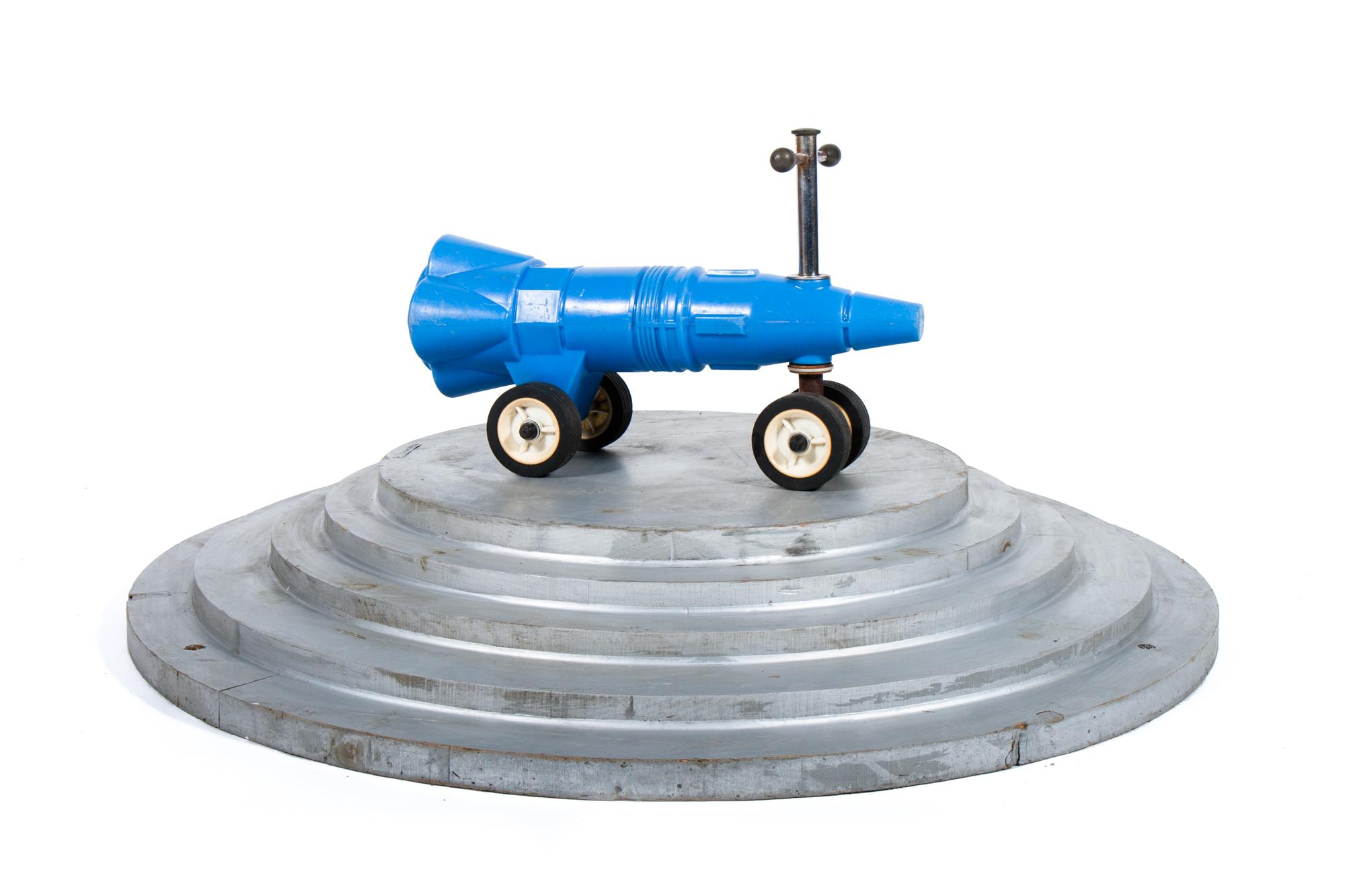 "Ride-on Rocket - Plastic (circa 1969) - Length 2'0"""