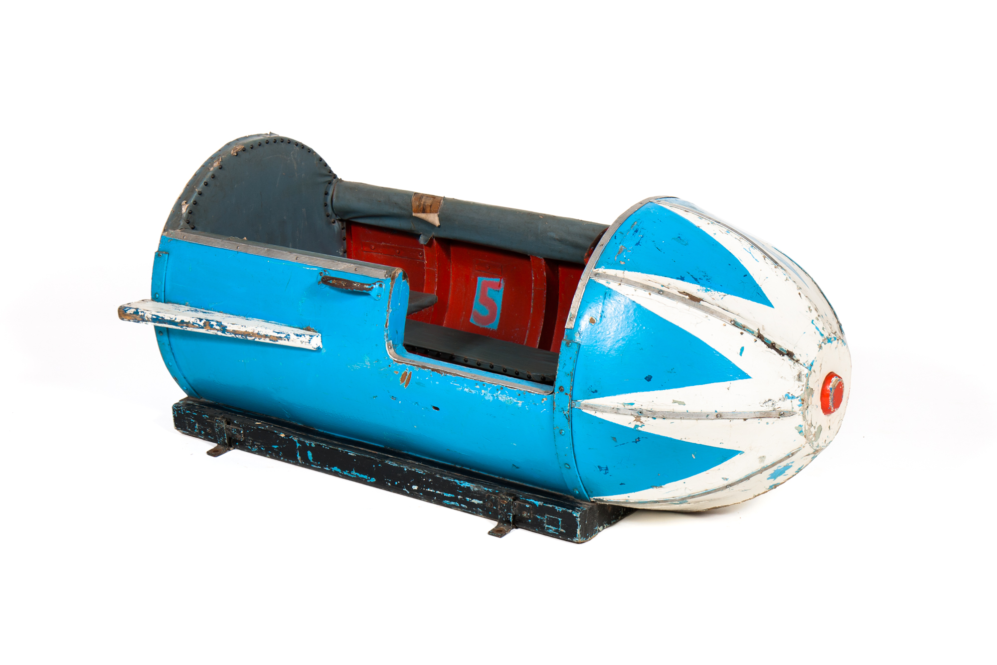 Rocket Platform Ride – Wood (European circa 1955) - Length 4'8""