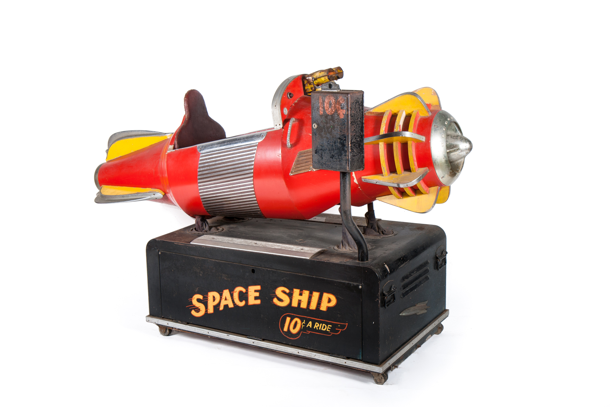 "Coin-Op Amusement Ride - ""Space Ship"" (Scientific 1953) - Length 6'6"""