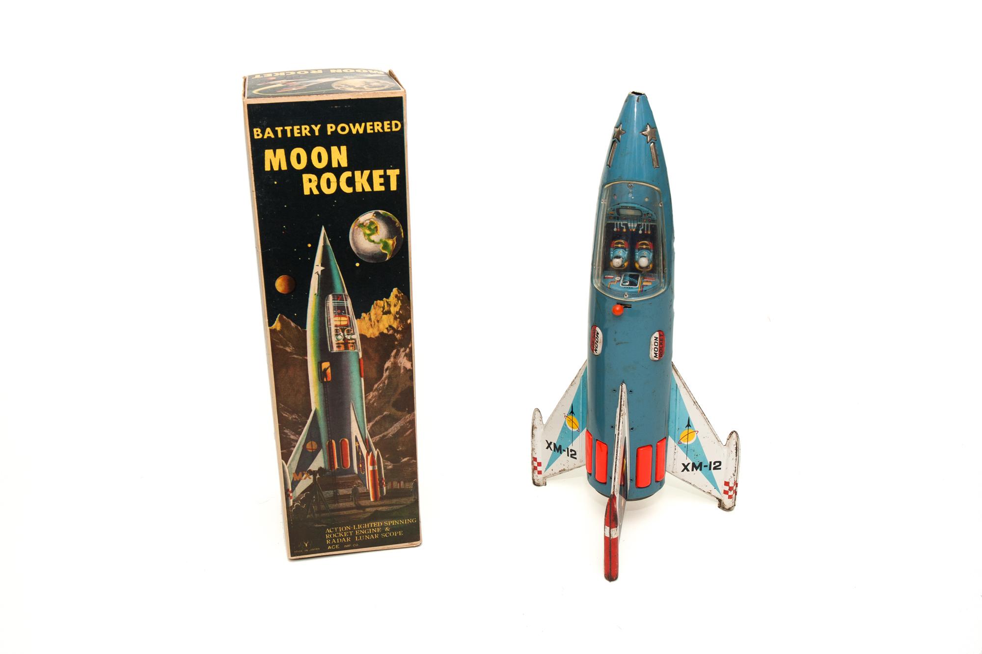 Moon Rocket XM-12 with Box (Yonezawa 1956)