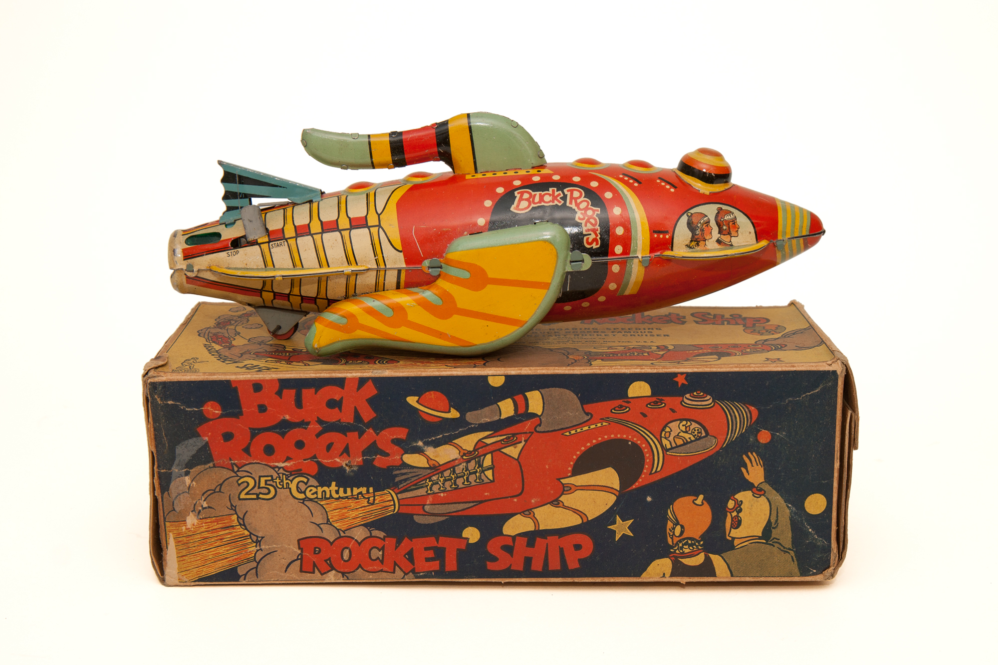 Toy Rocket Ship (Wind-Up) with Original Box – Buck Rogers (Marx 1934)