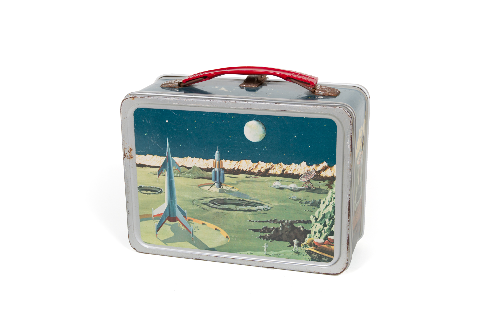 Lunch Box with Images Inspired by Chesley Bonestell Illustrations (circa 1958)
