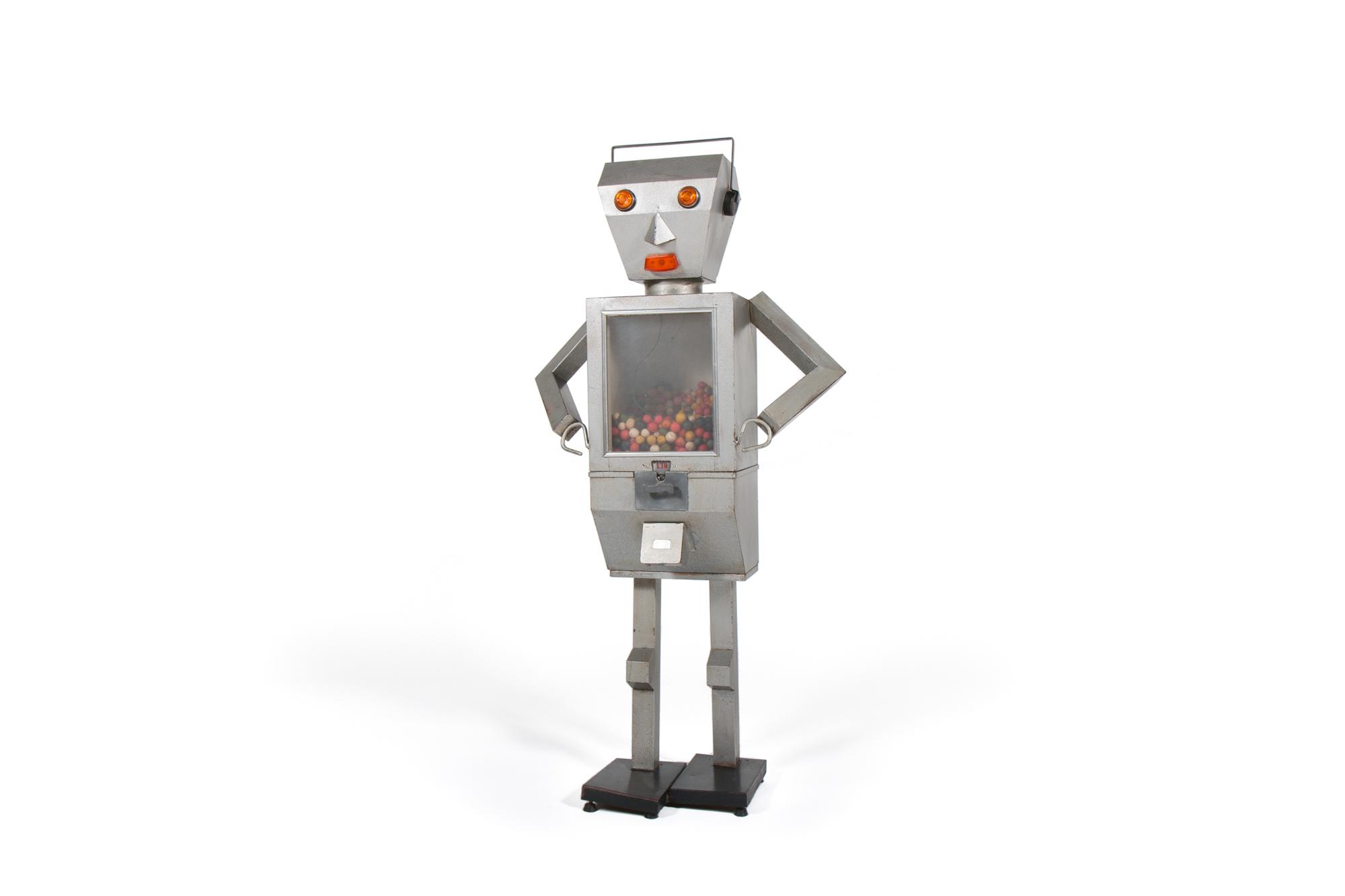 """Gumbo the Robot Gum Dispenser"" (Italy circa 1965) - Height 4' 7"""