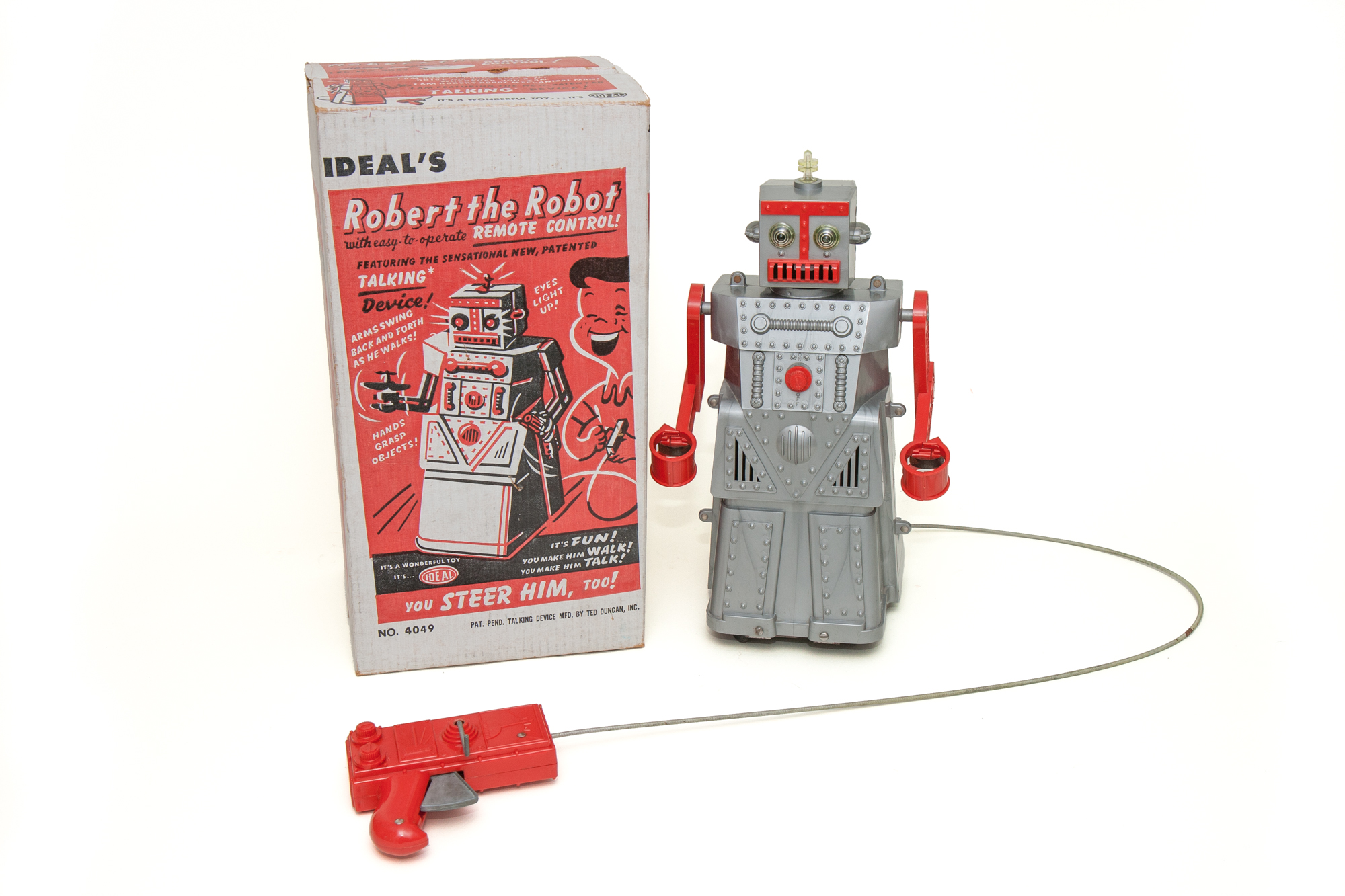 "Battery Operated Toy Robot – ""Robert The Robot"" (Ideal circa 1955)"