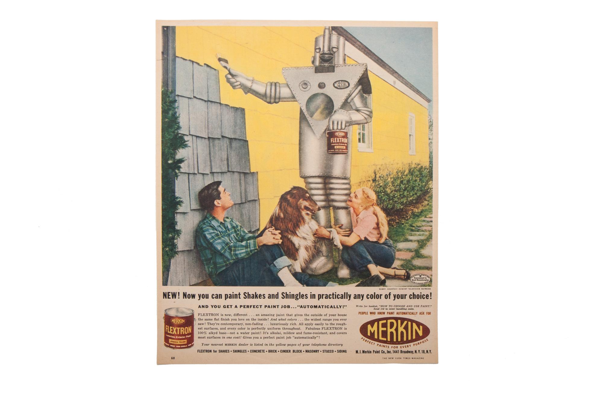 Magazine Advertisement – Merkin Paint (New York Times Magazine 1955)