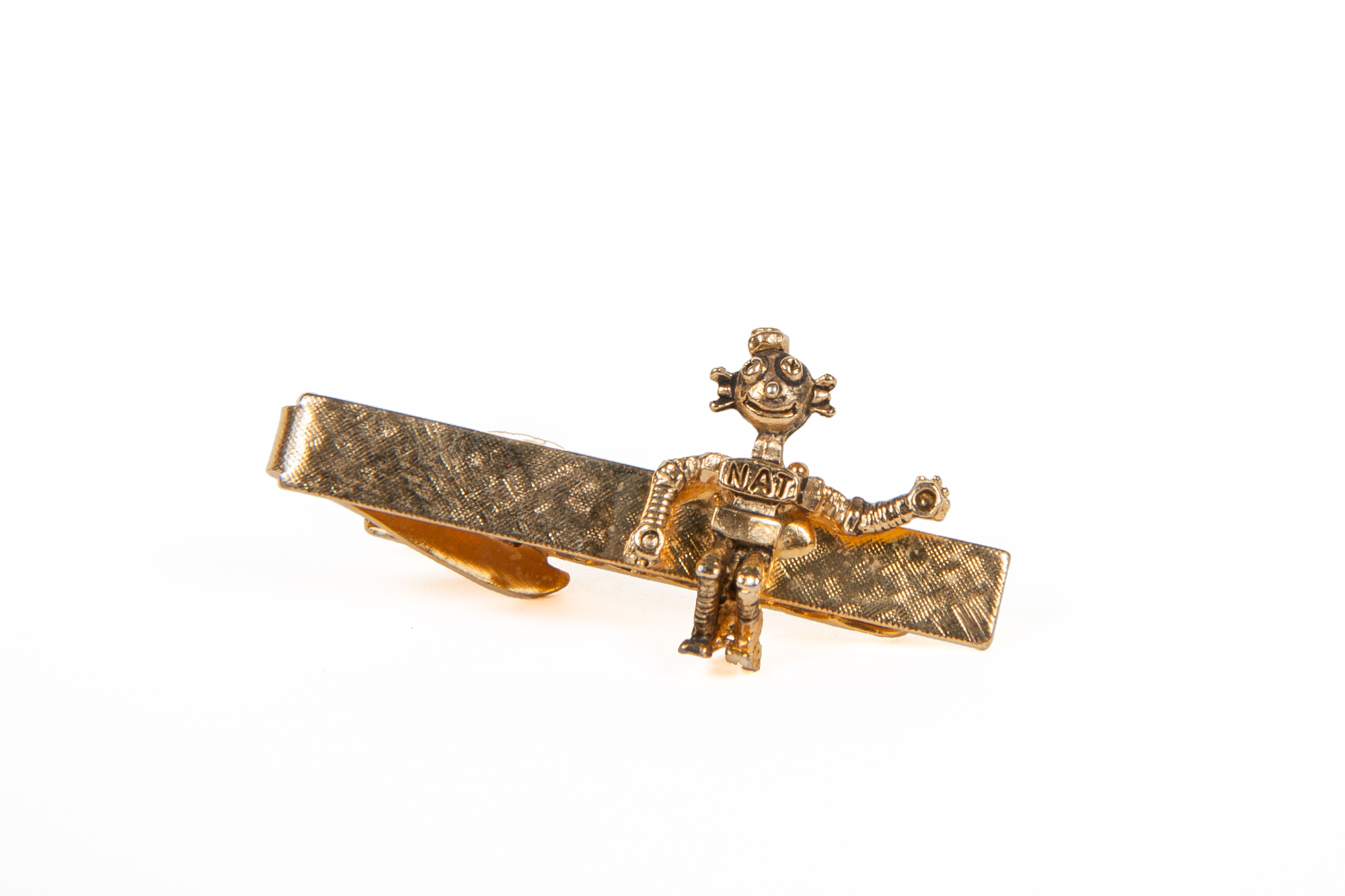 Promotional Tie Clip with NAT, a Robot fashioned from Nuts & Bolts (circa 1955)