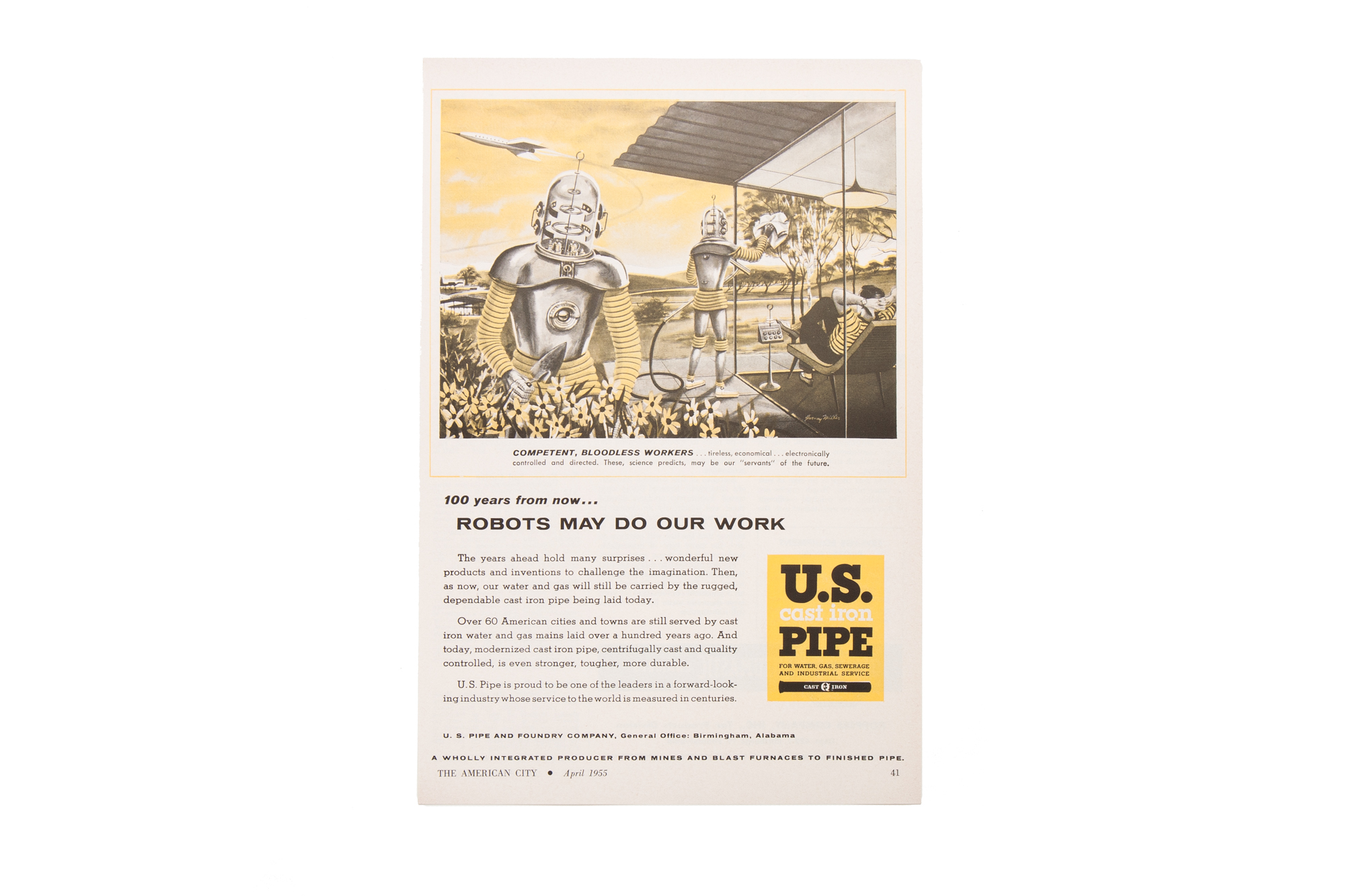 Magazine Advertisement – US Pipe (The American City 1955)