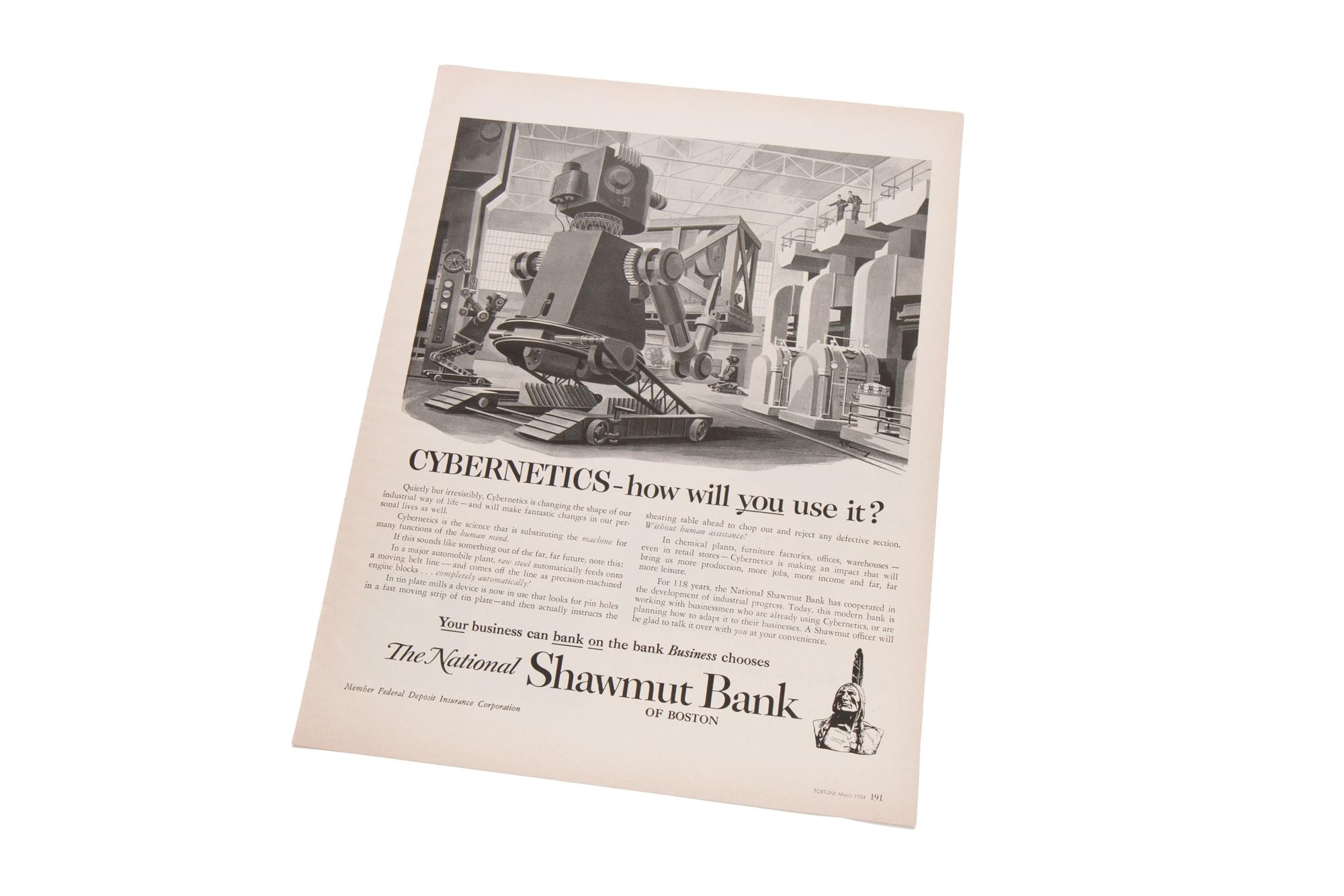 Magazine Advertisement – Shawmut Bank (Fortune 1954)