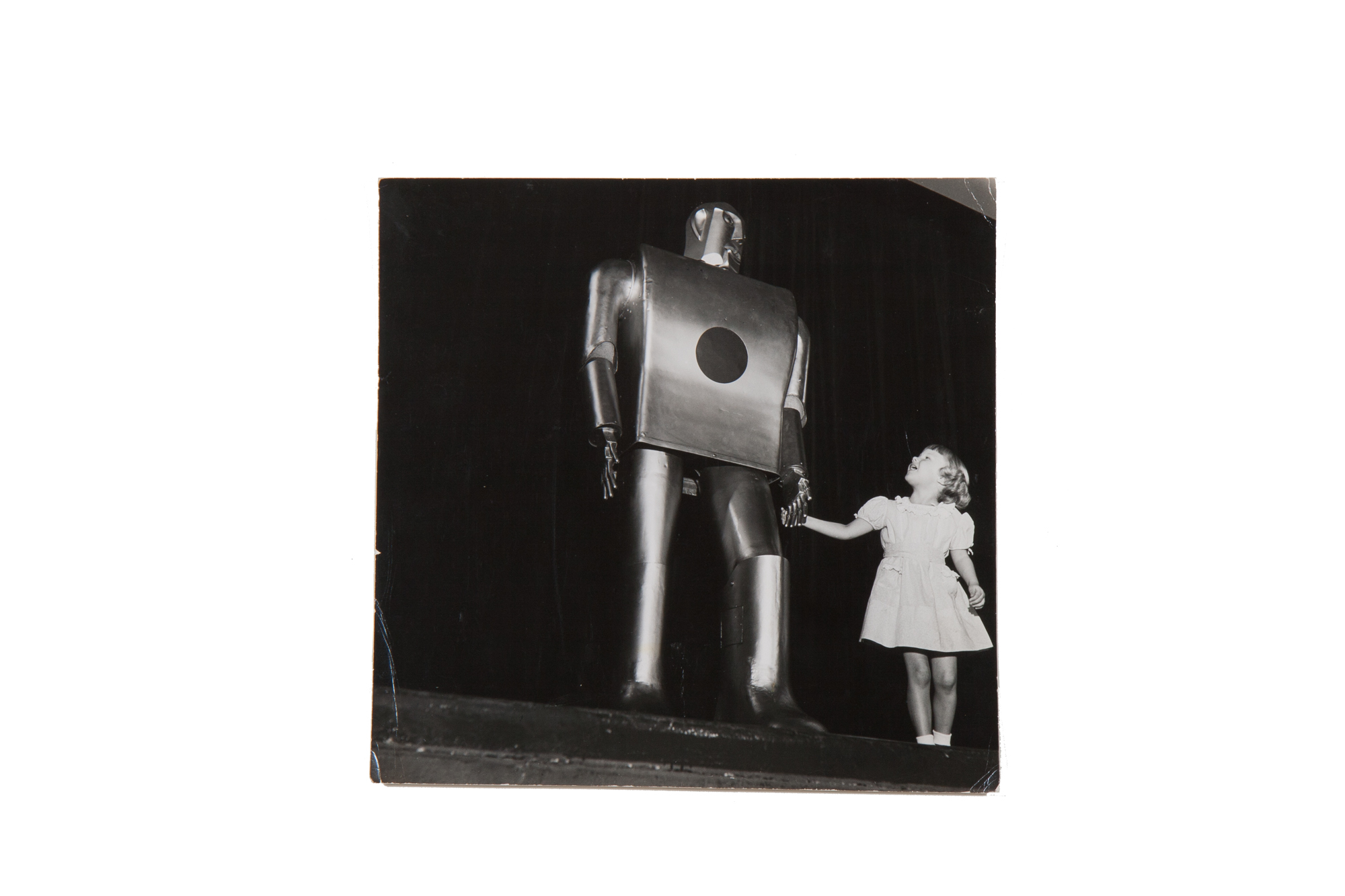 "Photograph – Westinghouse Robot ""Electro"" at 1939 World's Fair"