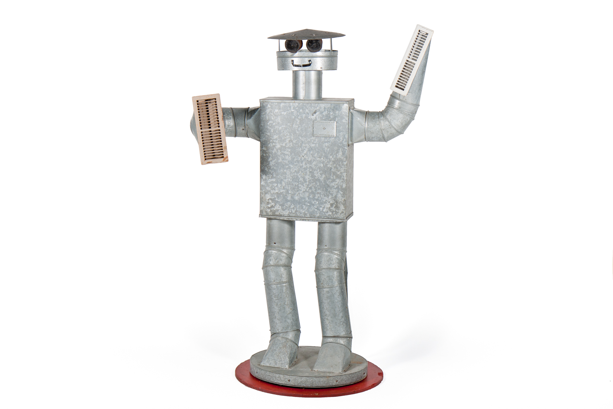 Promotional Robot / Tin Man from Heating Ducts (American circa 1970) - Height 5'6""