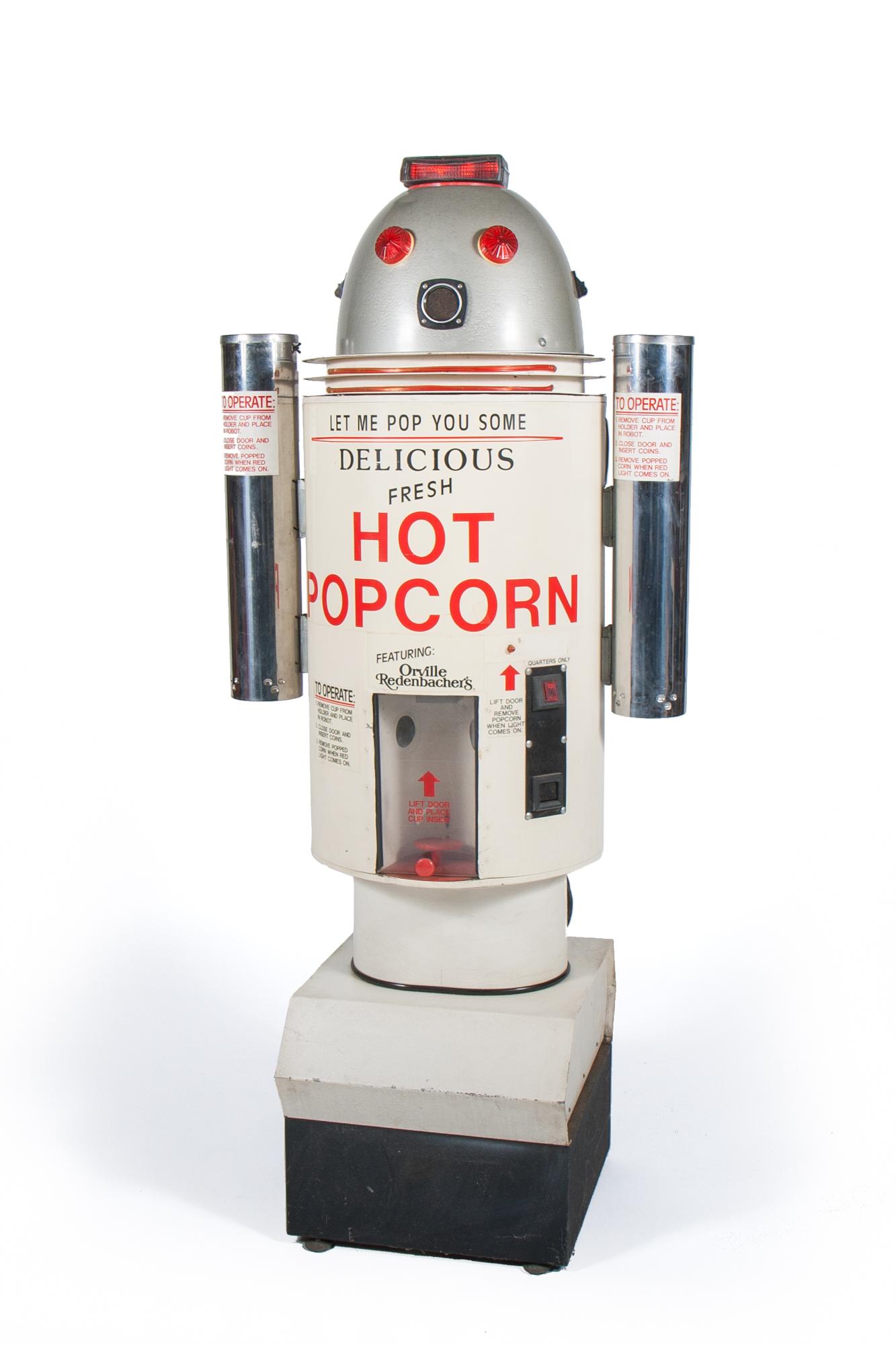 "Hot Popcorn Dispensing Machine Robot (Orville 1987) - Height 5'8"""