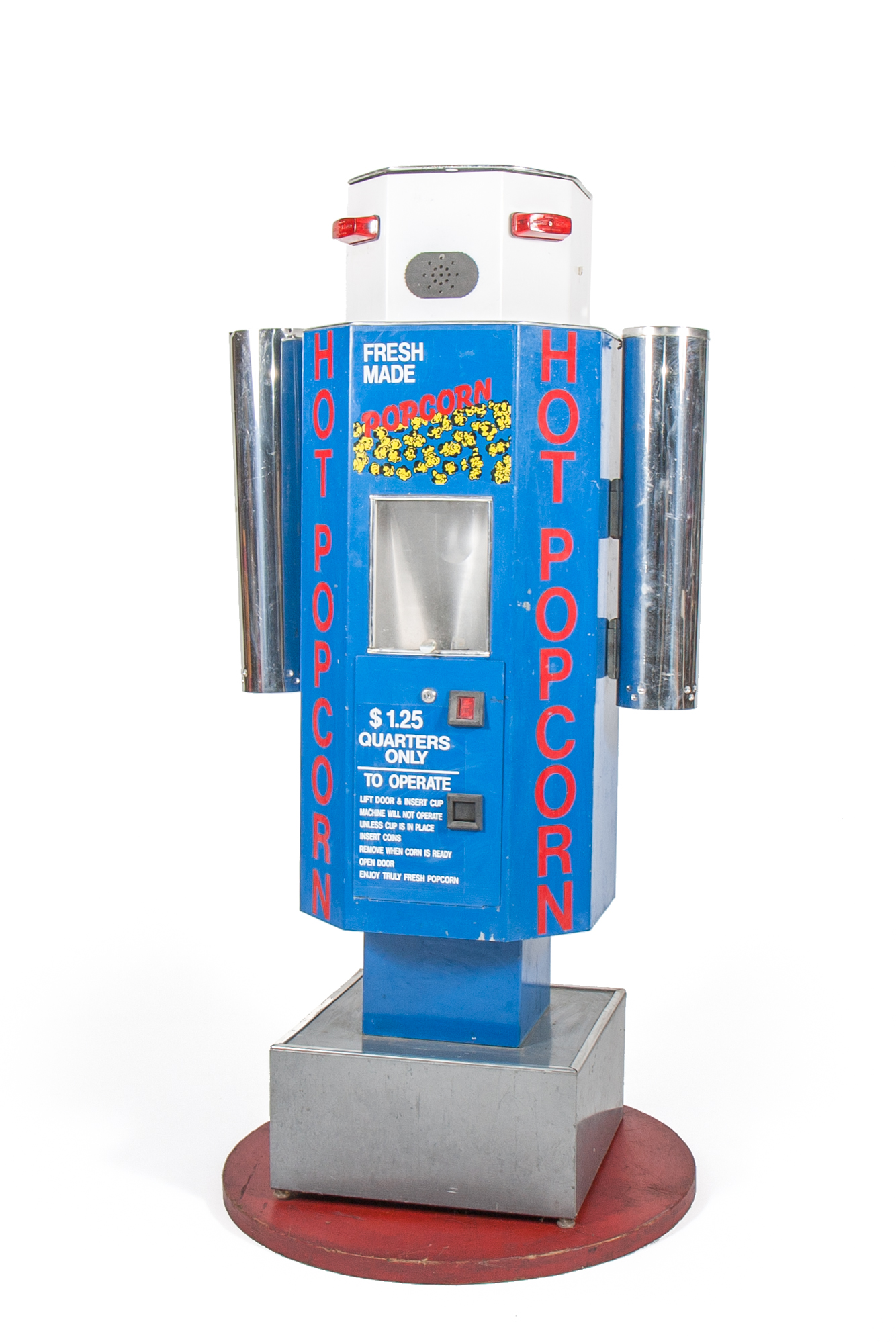 "Hot Popcorn Dispensing Machine Robot (circa 1975) - Height 5'3"""