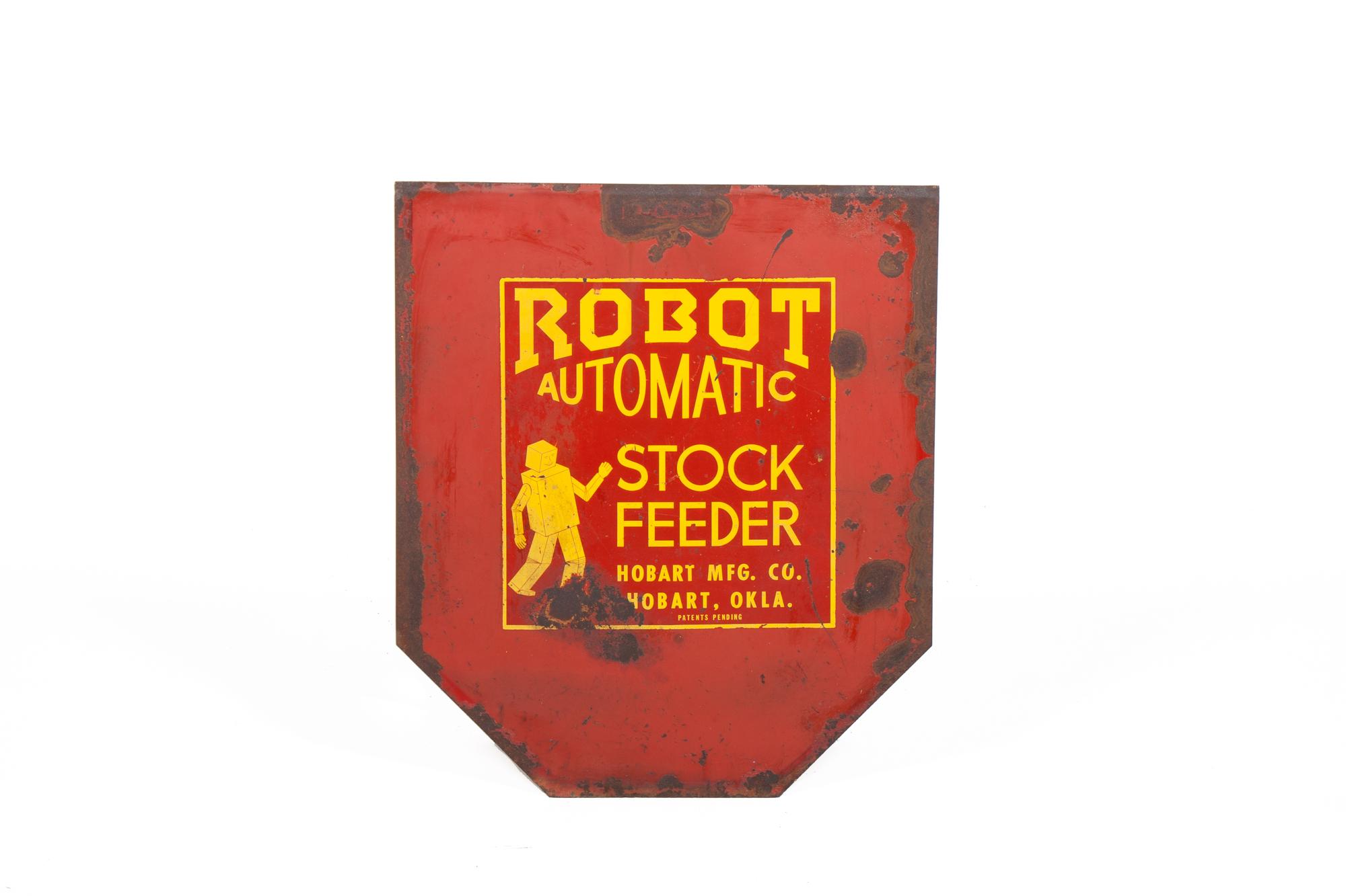 "Grain Chute Door – Robot Automatic Stock Feeder (circa 1950) - Height 2'3"""