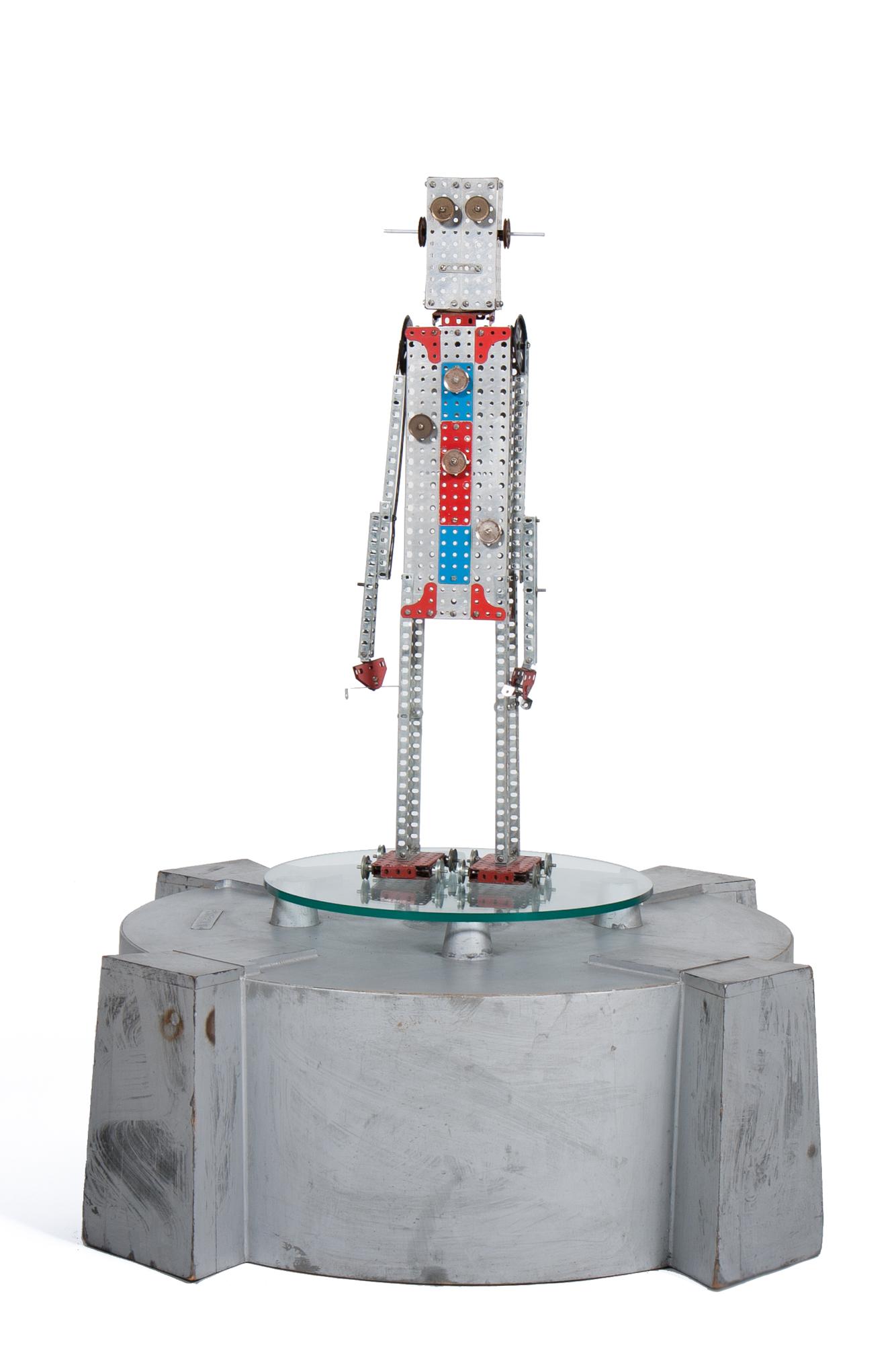 "Erector Set Robot (AC Gilbert circa 1960) - Height 2'6"""