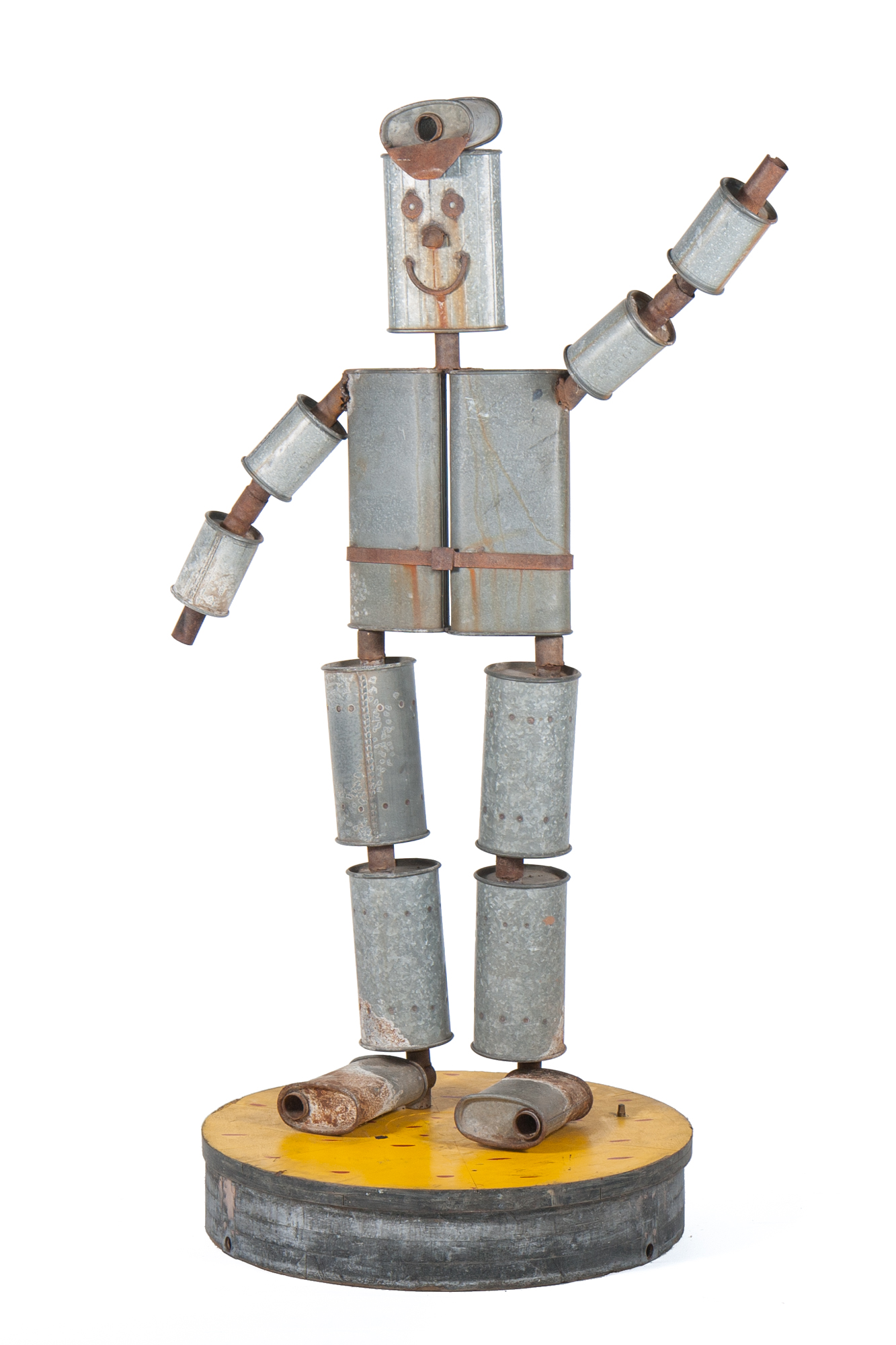 "Promotional Muffler Man / Robot from Garage (Lehighton, PA circa 1950) - Height 5'7"""