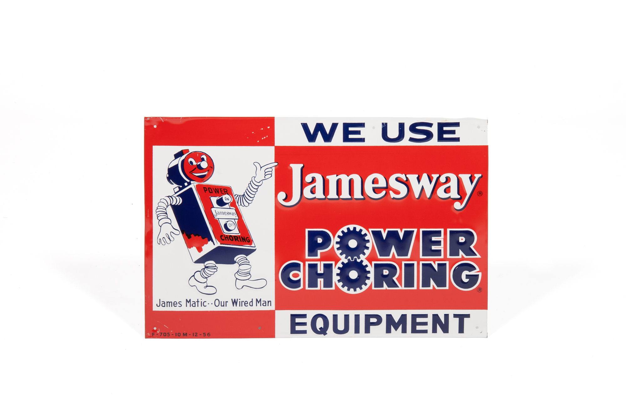 Advertising Sign with Robotic Figure (Jamesway Power Choring Equipment)