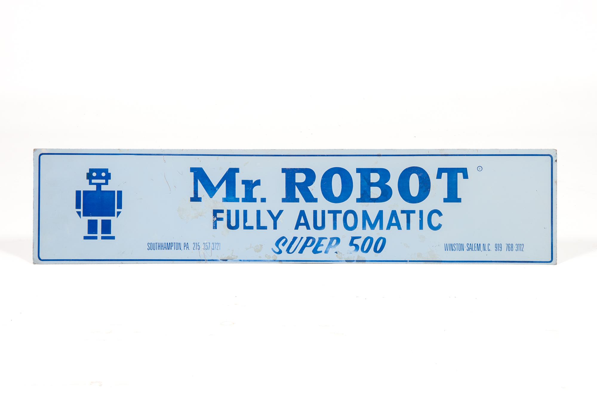 "Advertising Sign – ""Mr. Robot"" (circa 1985) - Length 3'0"""