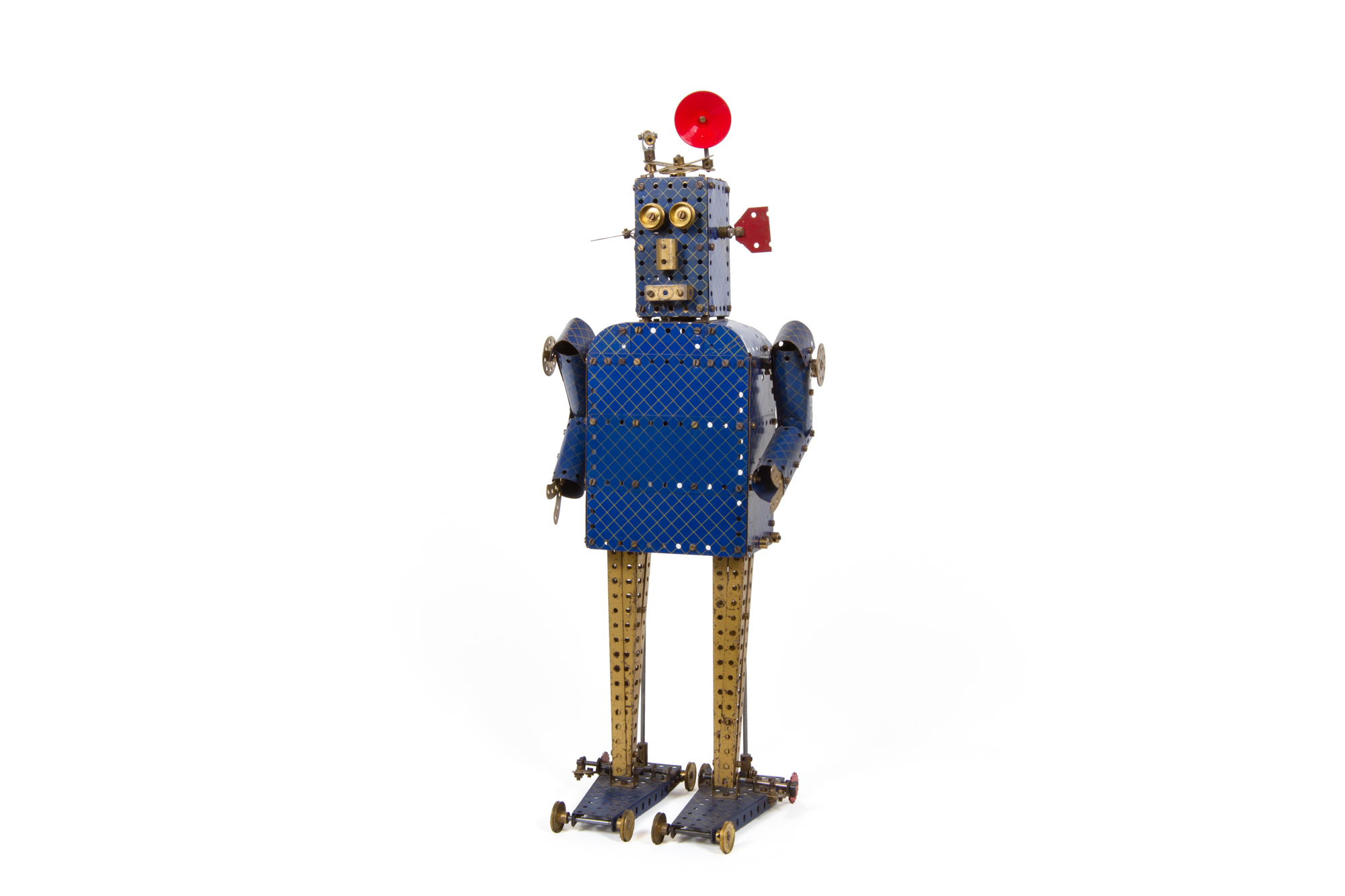 Construction Kit Robot (Meccano – age unknown) - Height 2'1""