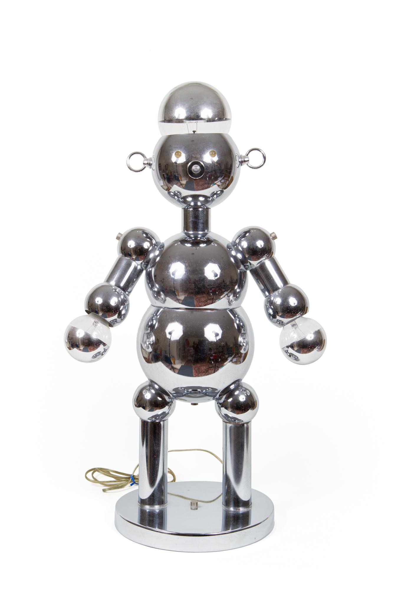 "Robot Lamp (Torino Lamps – Italy circa 1970) - Height 2'6"""