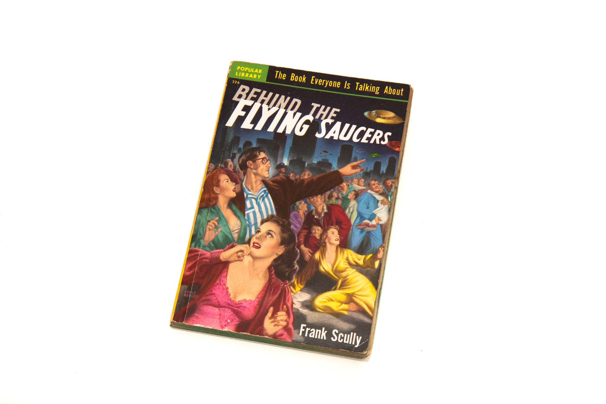 Paperback Book – Behind The Flying Saucers by Frank Scully (1950)