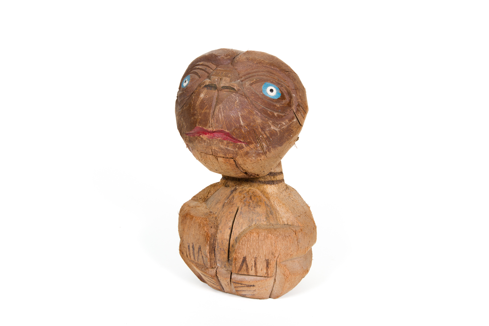 Carved Coconut Figure – ET: The Extraterrestrial (circa 1982)