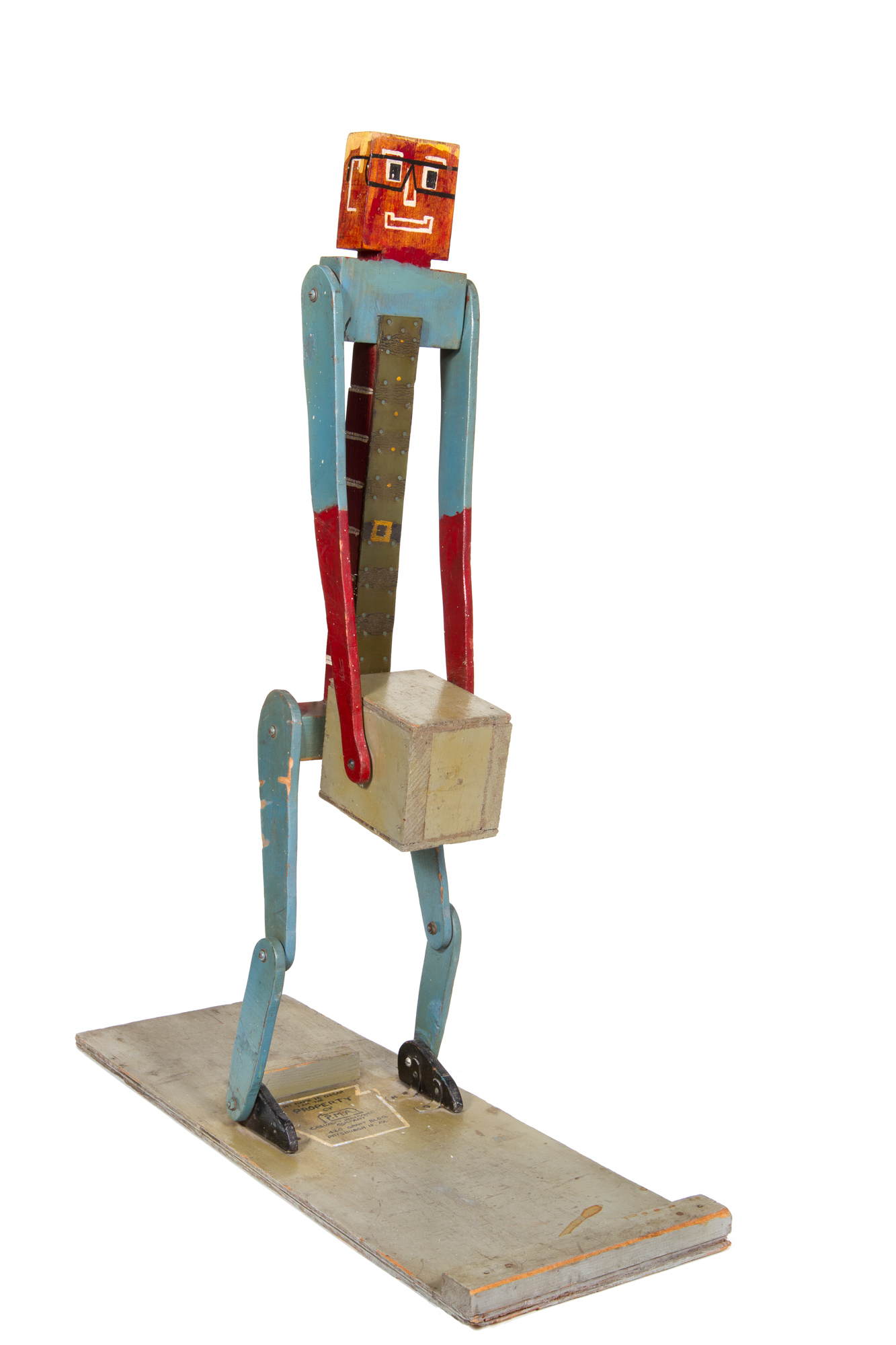 "Industrial Education Device - ""Oscar"" Robot Demonstrating Proper Lifting (signed H K Young 1963) - Height standing 3'0"""
