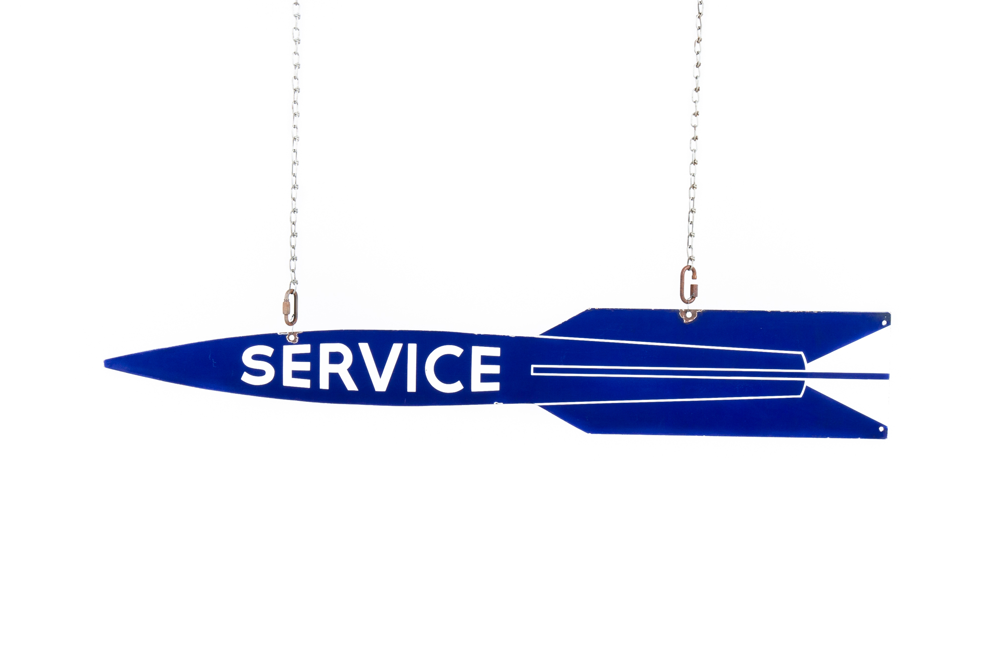 "Porcelain Sign - ""Service"" (Oldsmobile circa 1955) - 5'0"""