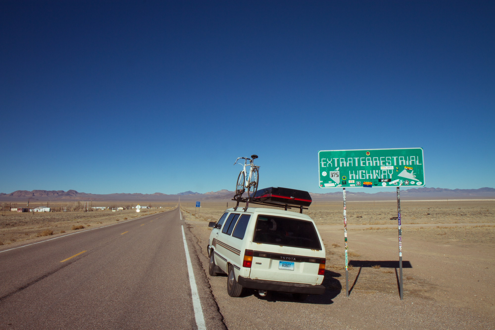"Road Sign - ""Extraterrestrial Highway"" (Nevada) - Photo by Peter Kleeman 2012"