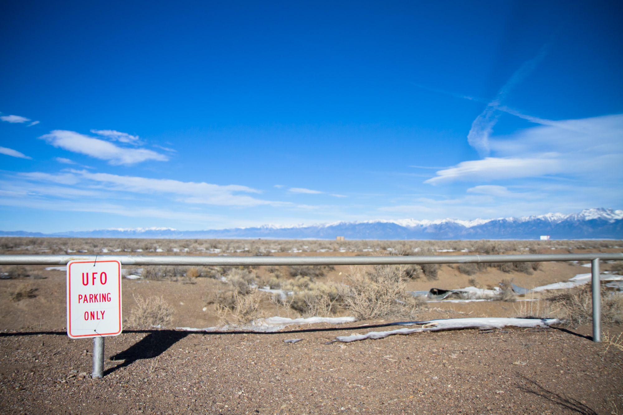 """Metal Sign - """"UFO Parking Only"""" (Colorado) - Photo by Peter Kleeman 2012"""