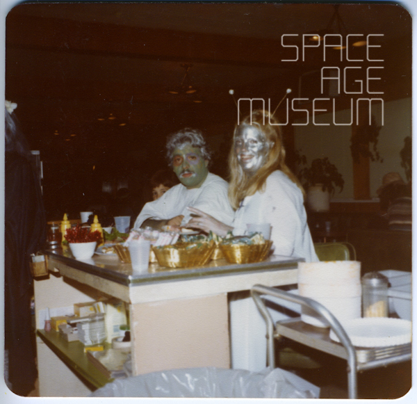 Green Alien Man with Silver Space Woman (circa 1982)