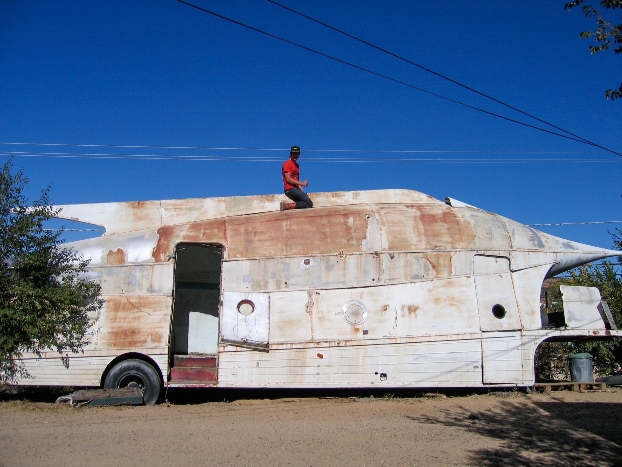 Luer Rocket - Prescott, Arizona; circa 2007 prior to cross country transport to Space Age Museum.