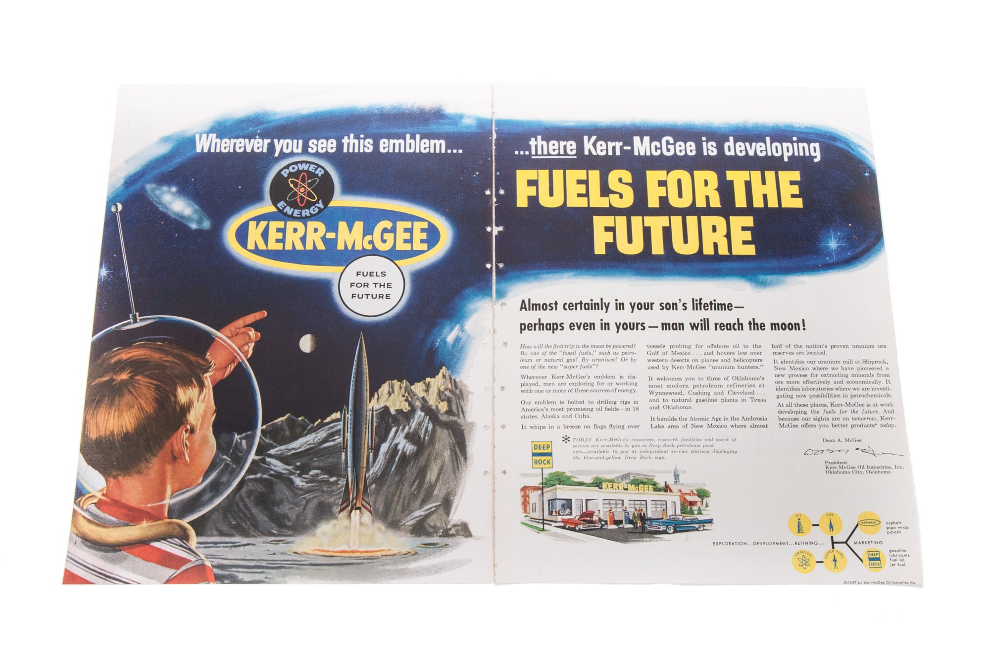 """Magazine Ad - """"Fuels for the Future"""" (Kerr-McGee 1957)"""