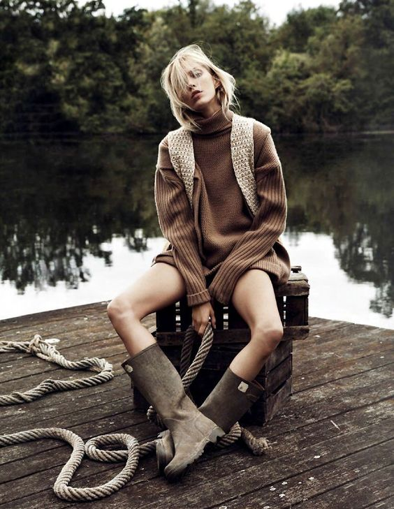 Anja Rubik for Vogue Paris, styled by Geraldine Saglio, photographed by Lachlan Bailey