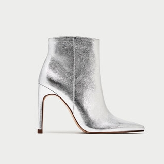 SILVER STILETTO HEEL ANKLE BOOTSDETAILS  29.99 GBP