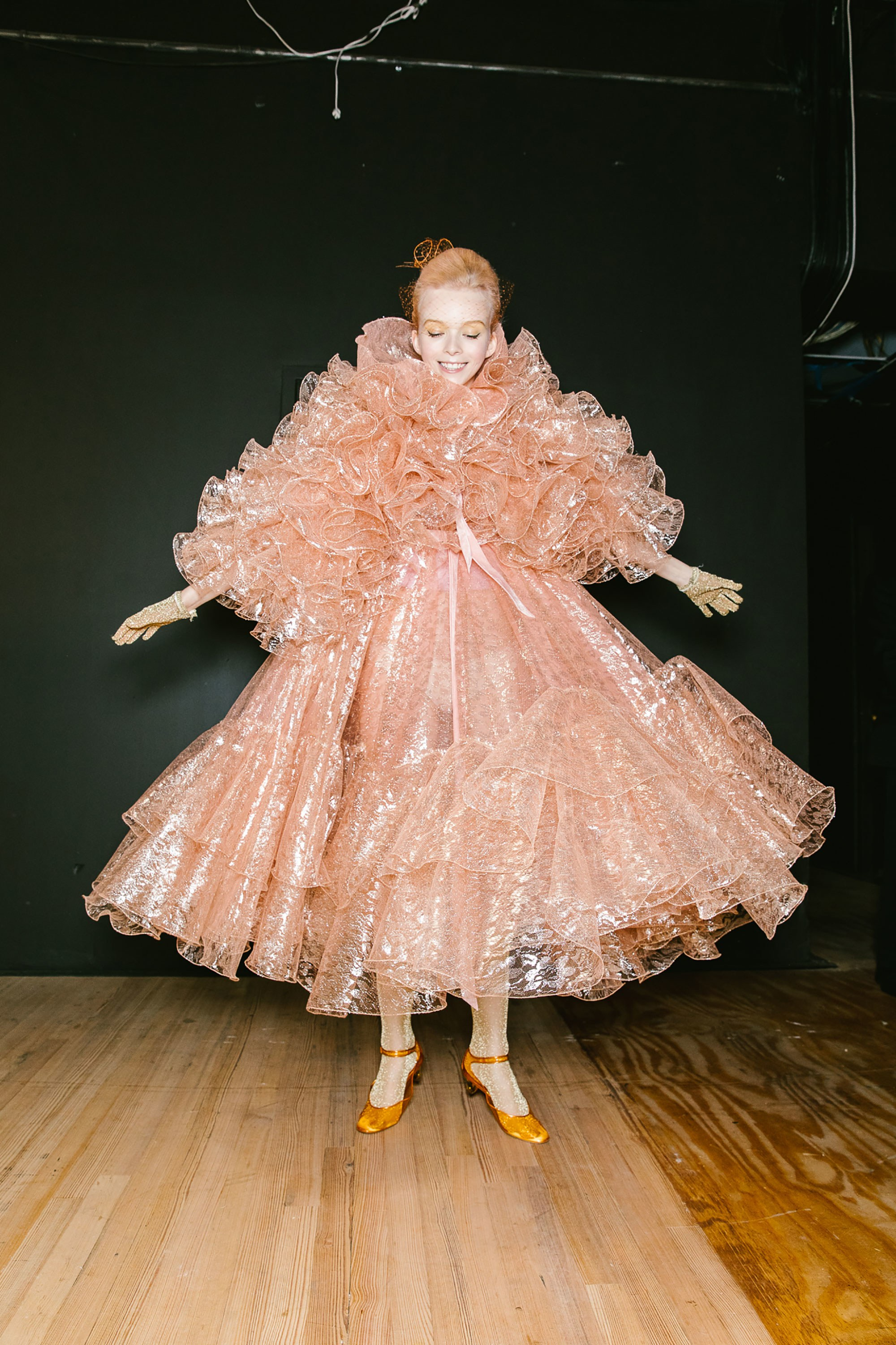 Backstage, a doll-like aesthetic at Marc Jacobs SS19 (Photo: Corey Tenold for vogue.com)